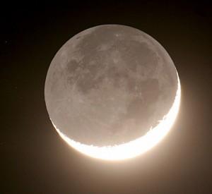 Выход Луны и земной тени