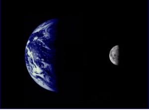 Сравнение размеров Земли и Луны