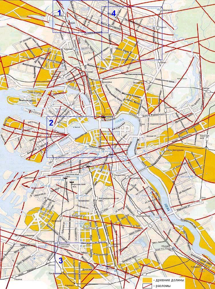 Карты Геопатогенных зон Санкт-