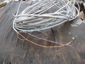 Рис.8. Сетевой кабель для обмотки катушки колебательного контура и монтажа схемы