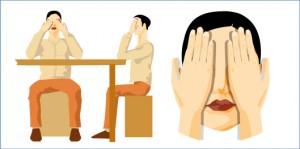 Рисунок 5д. Положение тела во время упражнения пальминга.